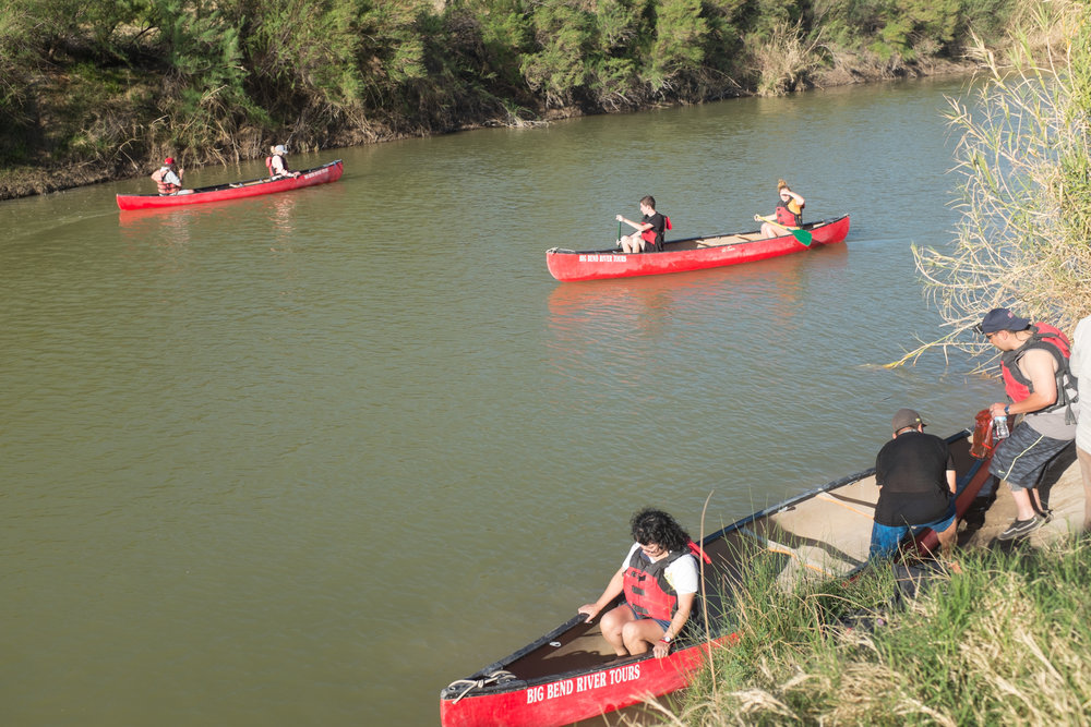 Float trips on the Rio Grande are very popular. You're not supposed to get out of your boat on the Mexico side, but there's no one down there to stop you.
