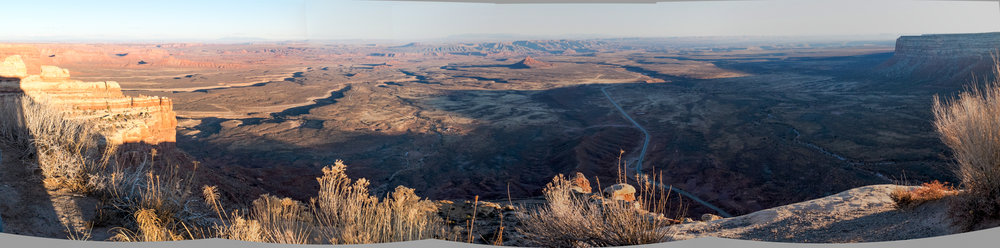 Looking south towards the Navajo Reservation from the top of Cedar Ridge, Utah.