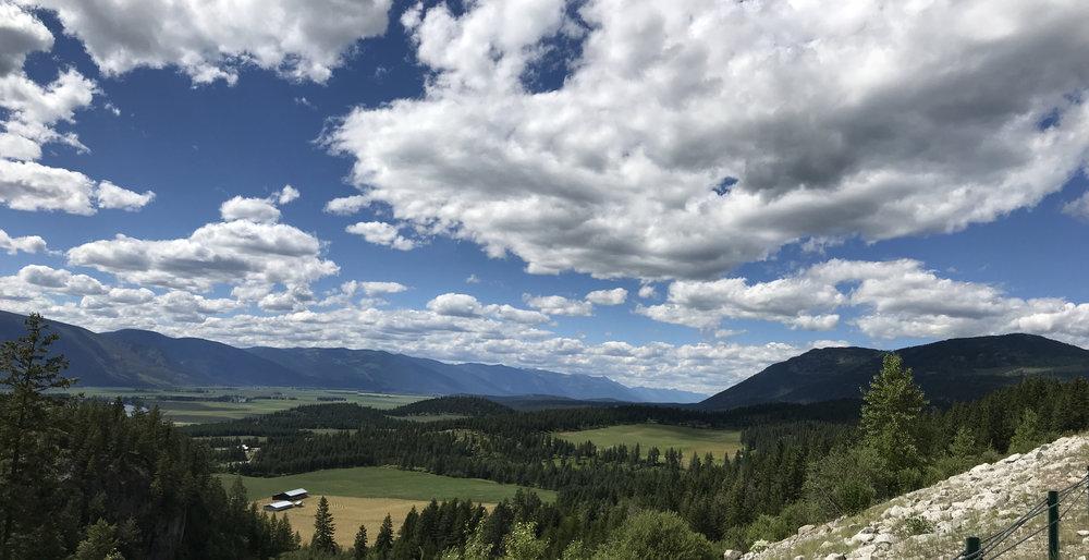 The PNT crosses the Kootenai River Valley, north of Sandpoint, Idaho.
