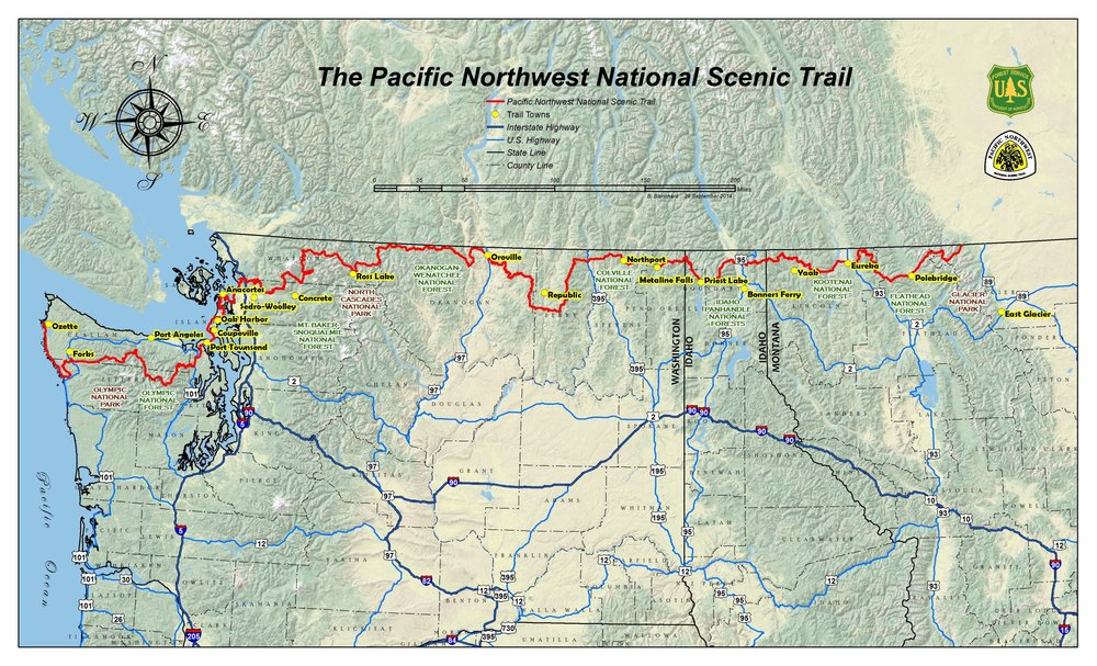 The Pacific Northwest Trail , March 14, 2019.