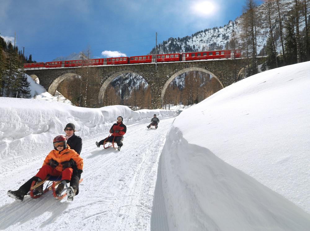 Schlittelstart Preda - Bergün 18.Dezember.2015