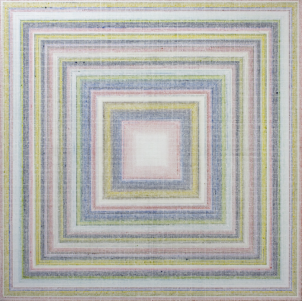 Untitled (RYB), acrylic on canvas, 2011, 60 x 60in | 152 x 152cm