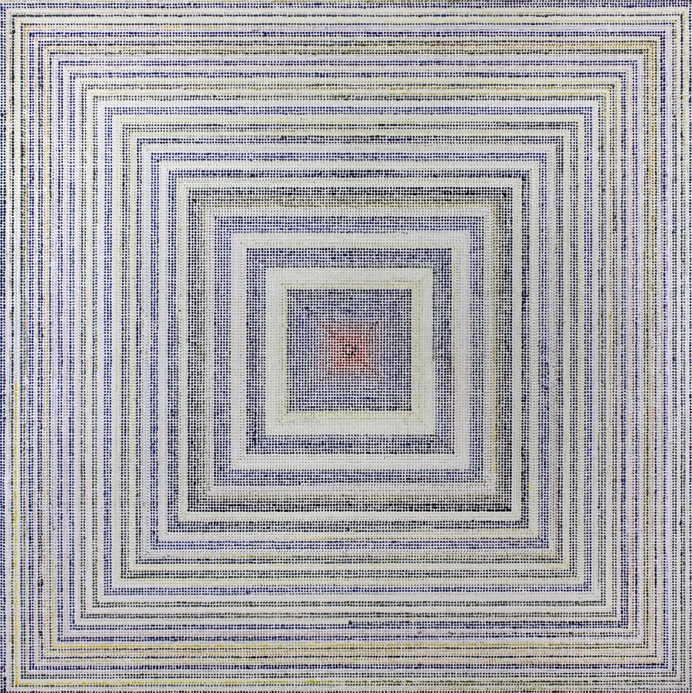 Untitled (RYUR), acrylic on canvas, 2013, 60 x 60in | 152 x 152cm