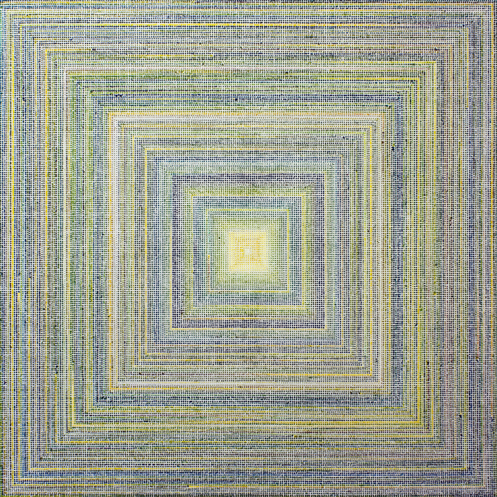 Untitled (YGR), acrylic on canvas, 2011, 60 x 60in | 152 x 152cm