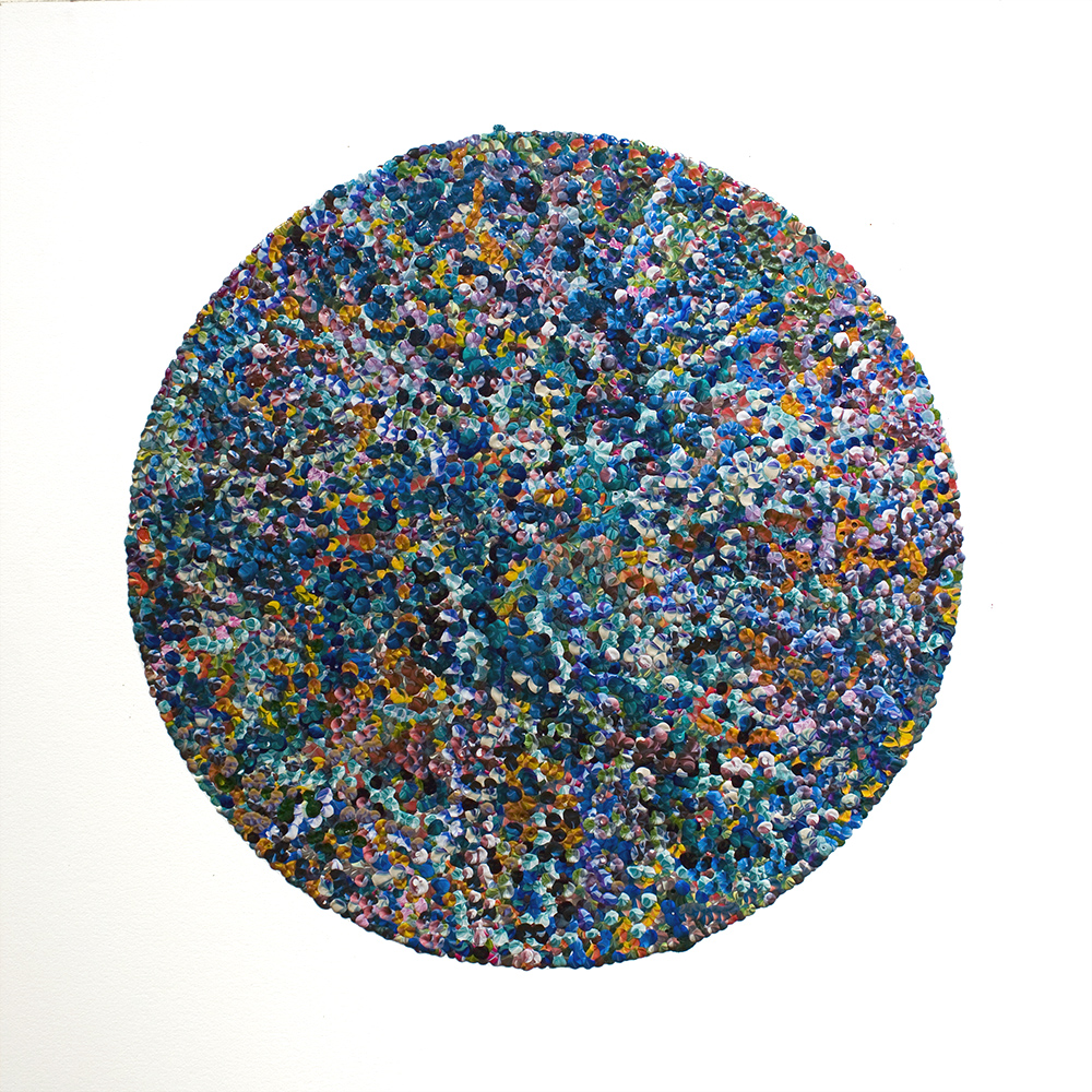 1st Circle, acrylic on paper, 2013, 12in ø | 30.5cm ø