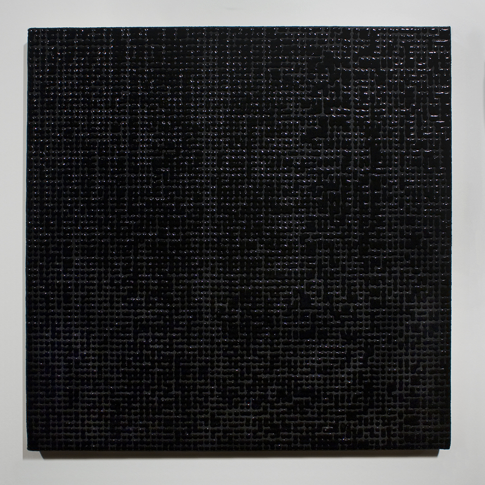 Mergence (Black) acrylic on linen 19 x 19 inches 2013.jpg