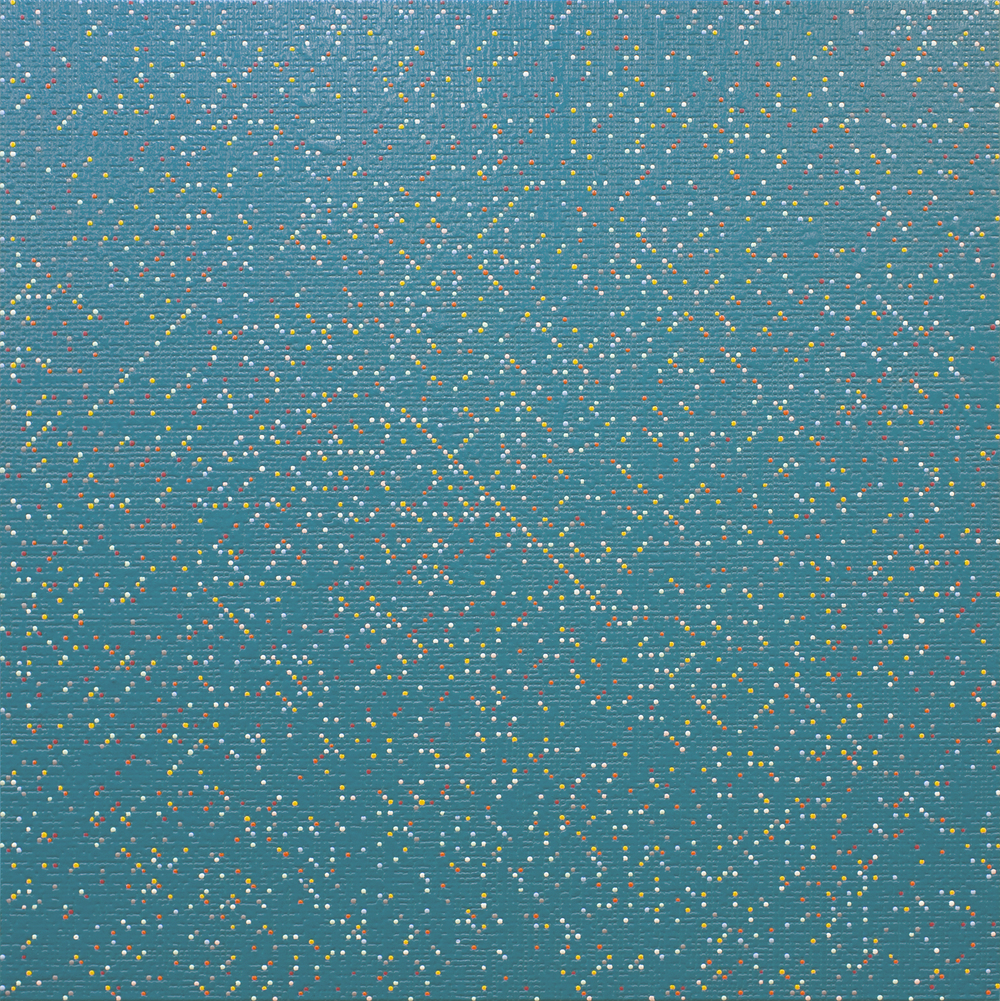 Primary Array #41, acrylic on canvas, 2010, 48 x 48in | 121 x 121cm