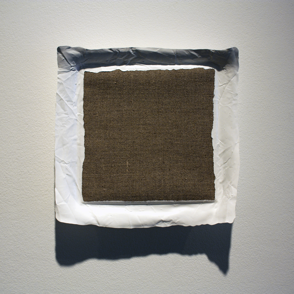 Untitled (White), acrylic on linen, 2010, 8 x 8in | 20 x 20cm
