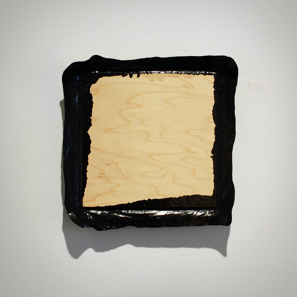 Untitled (Black), acrylic on plywood, 2010, 8 x 8in | 20 x 20cm