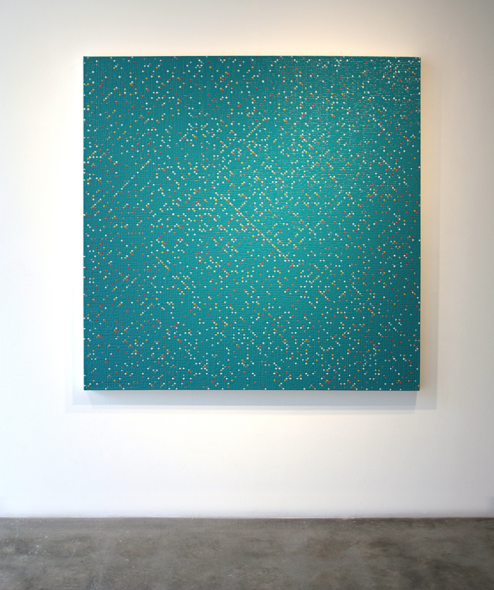 Primary Array # 41,  acrylic on canvas, 2010, 48 x 48in | 121 x 121cm
