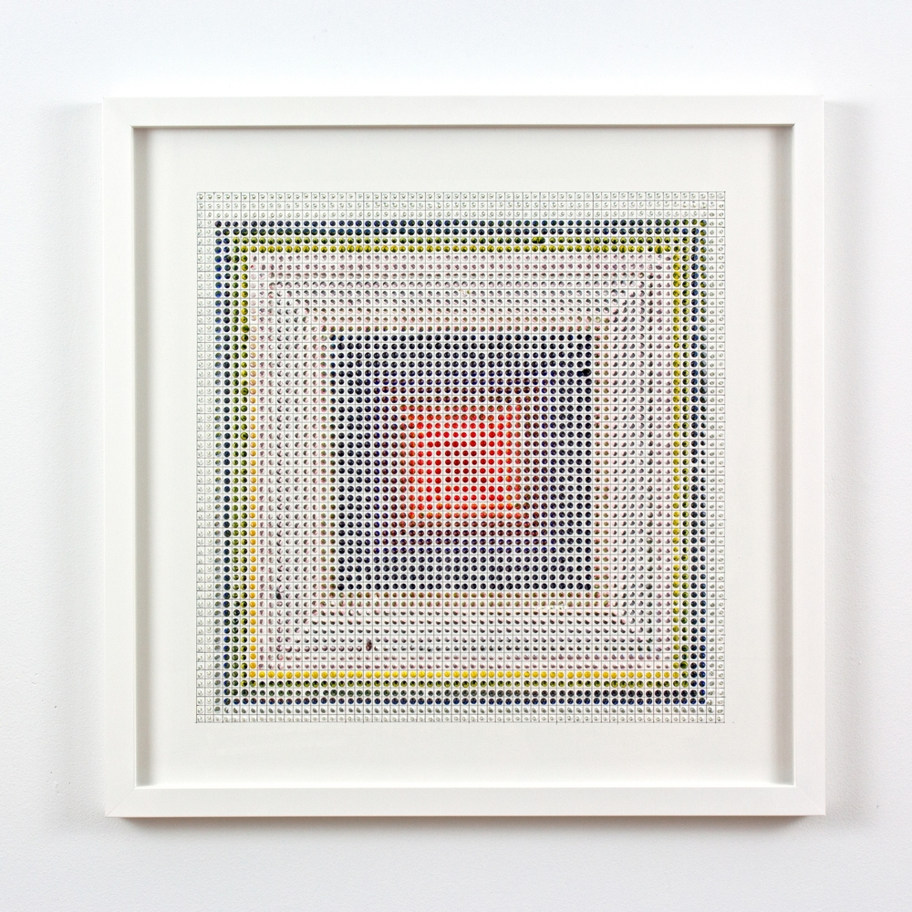 Untitled (RYUR) #1, acrylic on paper, 2015, 19 x 19 inches | 48 x 48cm