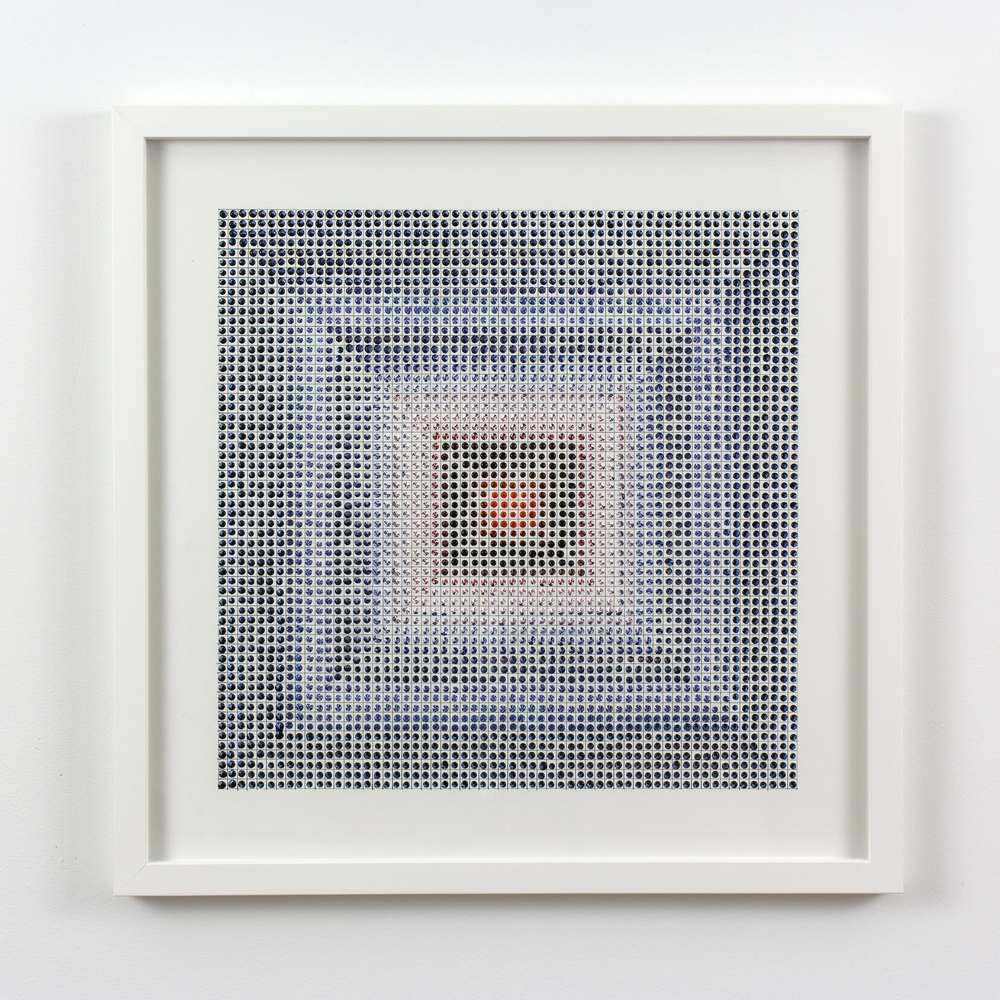 Untitled (OB), acrylic on paper, 2015, 19 x 19in | 48 x 48cm