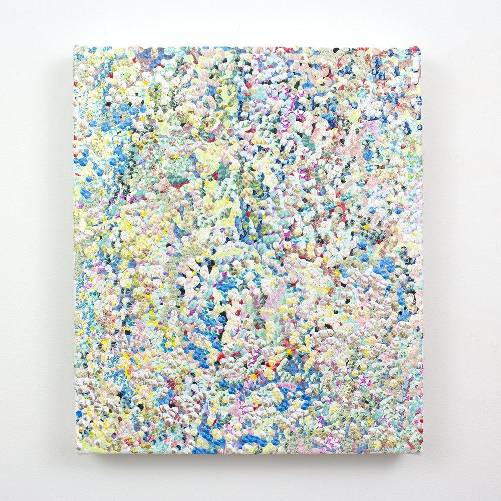 1st Amalgamation, acrylic on canvas, 2016, 12 x 14in | 30 x 35cm
