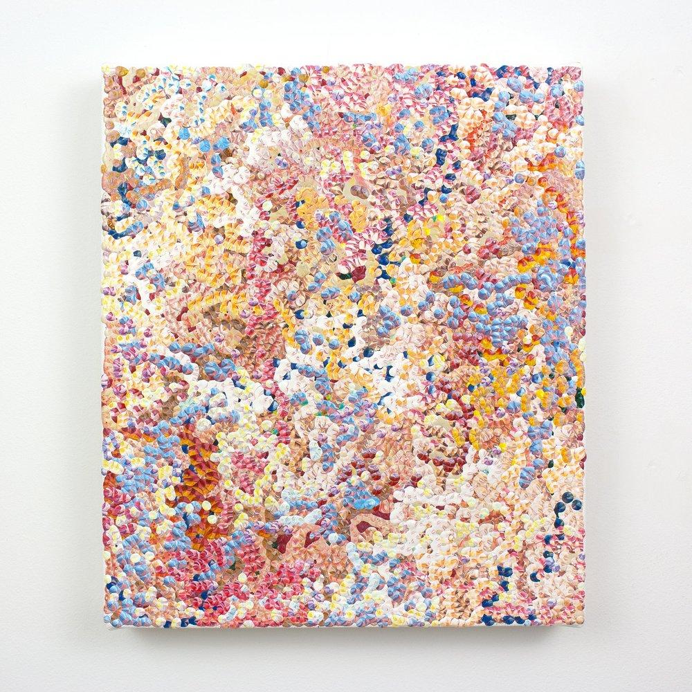 2nd Amalgamation, acrylic on canvas, 2016, 12 x 14in | 30 x 35cm