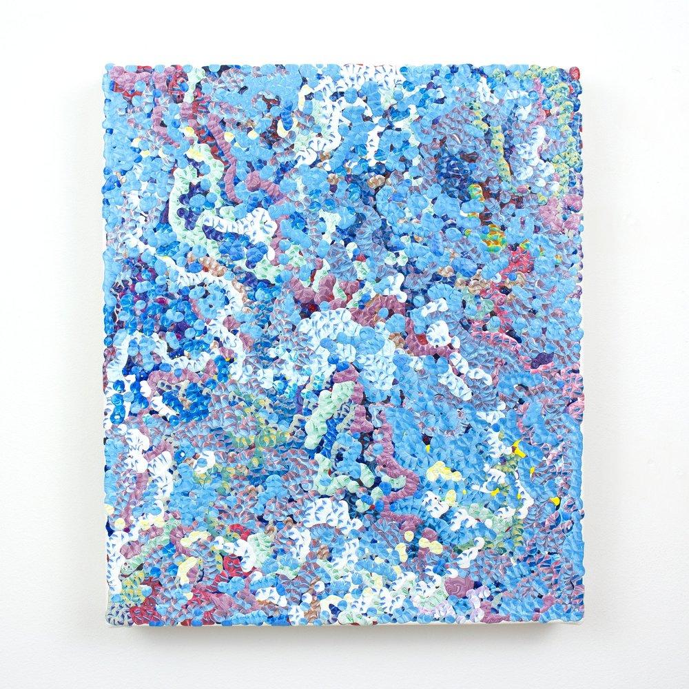 3rd Amalgamation, acrylic on canvas, 2016, 12 x 14in | 30 x 35cm