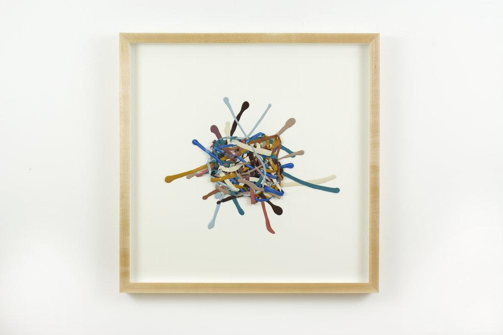 5th Reticulum , acrylic on paper, 2017, 20 x 20in | 50 x 50cm