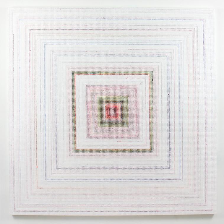 Untitled (RYUO) - ghost, acrylic on canvas, 2018, 48 x 48in | 121 x 121cm
