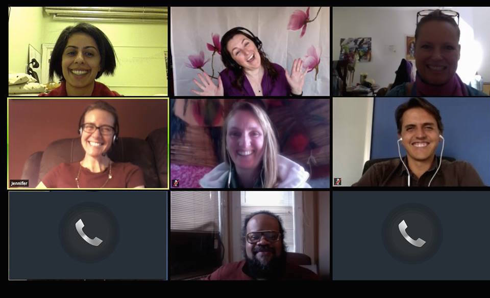 Some of our amazing Liaisons during our monthly virtual team meeting.