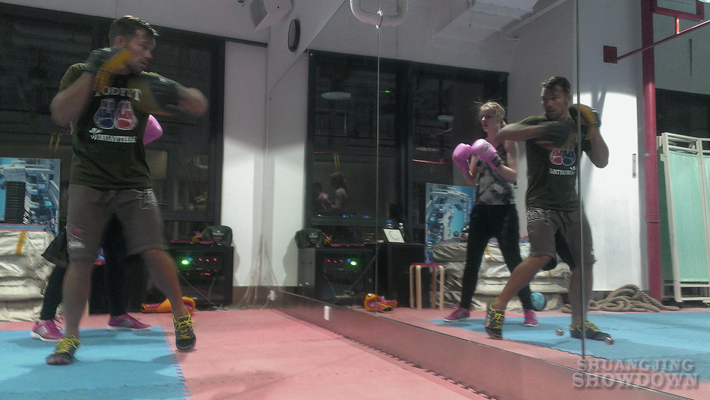 Coach Sean Wright teaching Boxingat B Active Chaowai Soho.