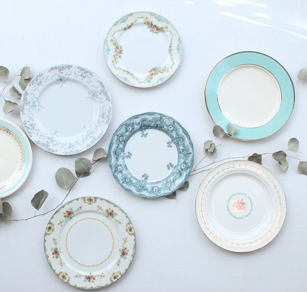 Teal Plates & Southern VintageVintage ChinaClassic Collection. Teal Plates