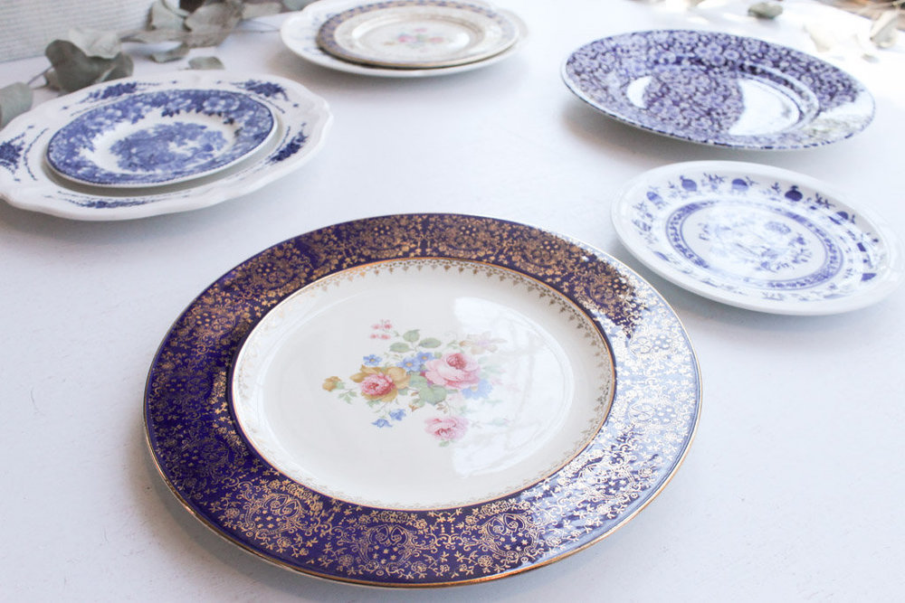 blue classic china collection close up plates southern vintage rental.jpg & Southern VintageVintage ChinaClassic Collection. Blue Plates