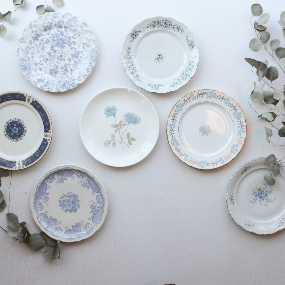Light Blue Plates & Southern VintageVintage ChinaClassic Collection. Light Blue Plates