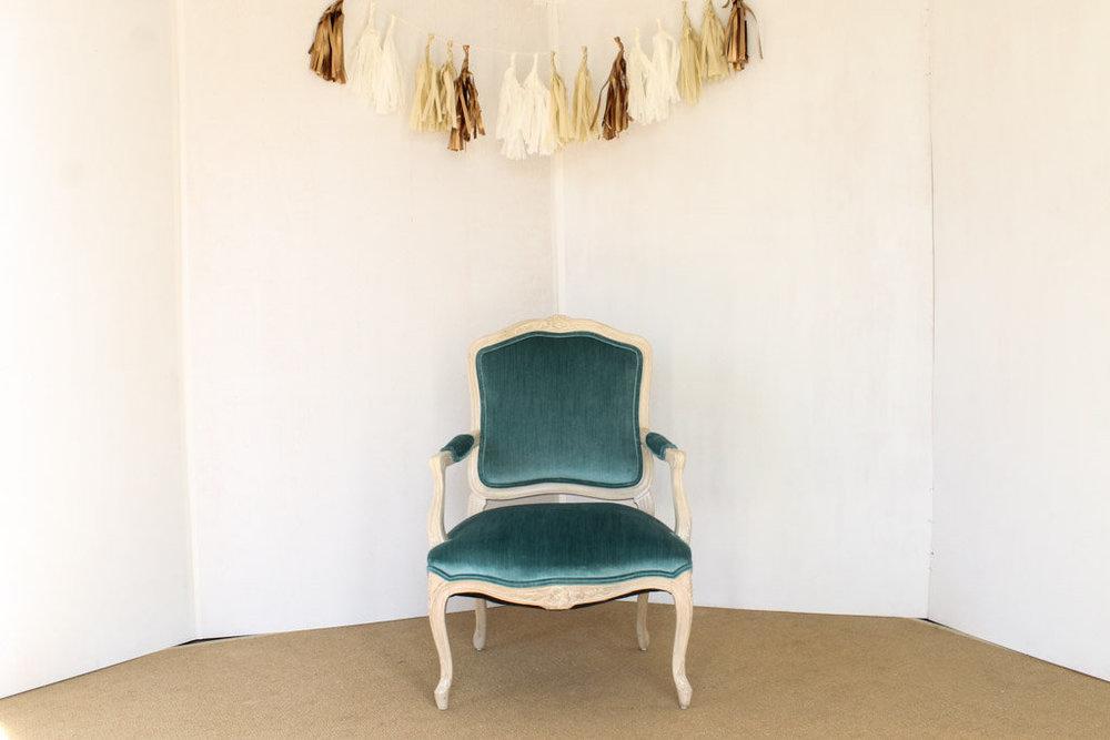 Teal Chair. Lydia