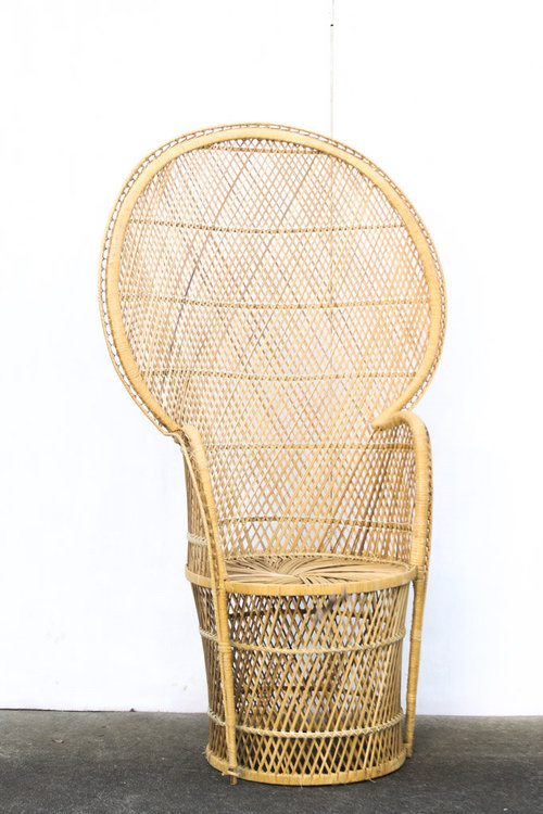Peacock Wicker Chair. Peggy