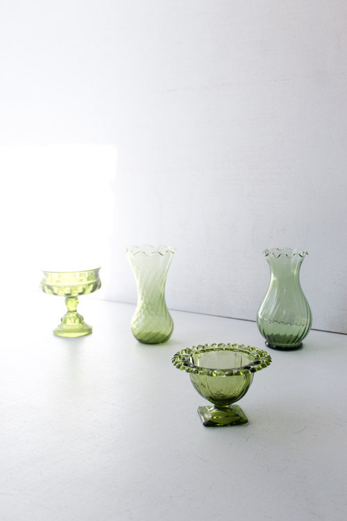 Southern Vintagesmall Vintage Design Detailsgreen Glass Accent Pieces