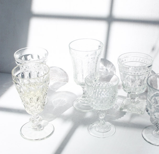 mix u0026 match water goblet clear - Water Goblets