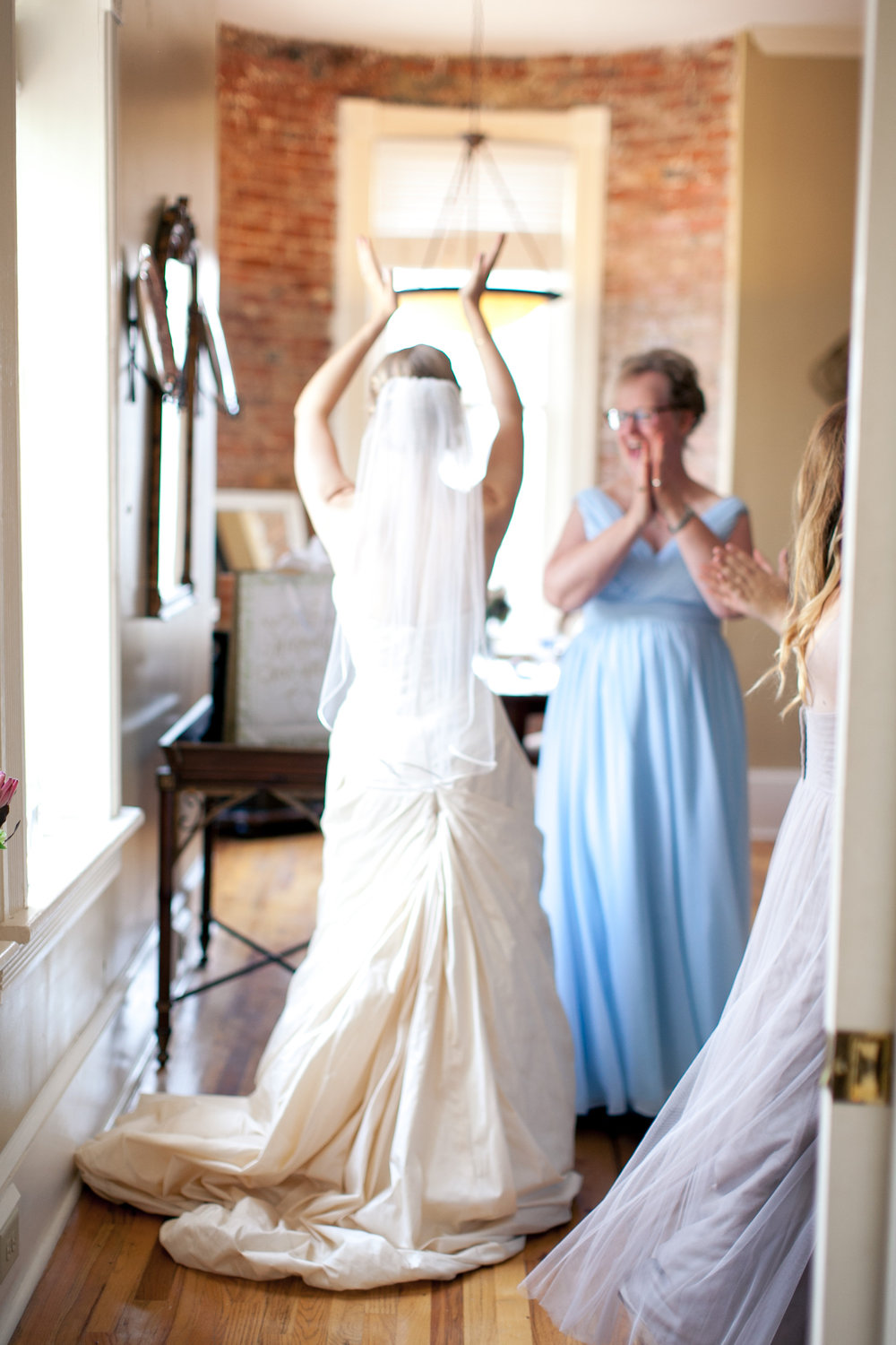 Bridal prep should be so fun for all brides. You can't even see Elena's face and her spirit radiates in this photo by  Kaitie Bryant .