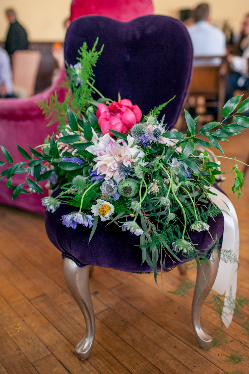 I mean, seriously, how incredible is this bridal bouquet on our Celie?