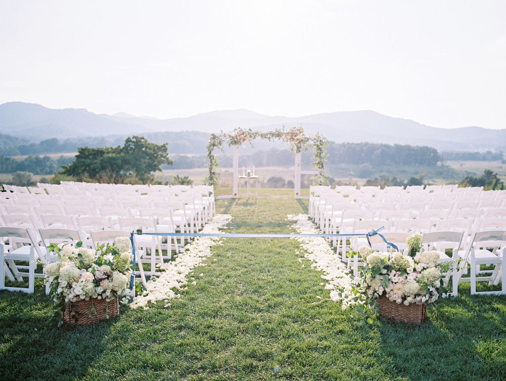 Southern Vintage rental wedding ceremony backdrop