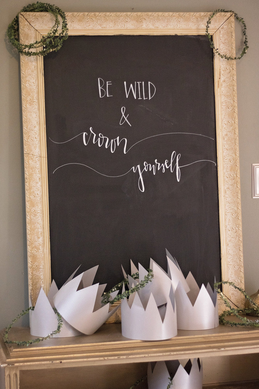 Crown Where the Wild Things Are Sign Eliza Jane Lettering