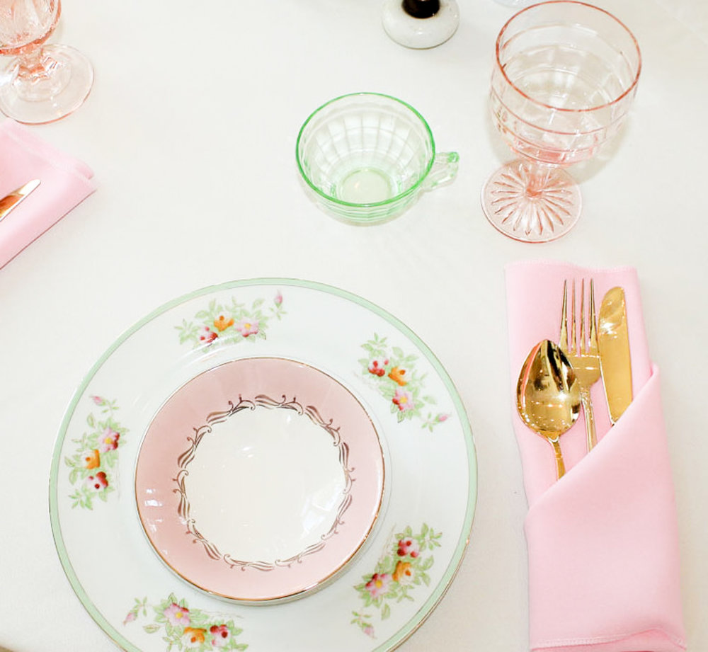 Southern Vintage Baby Shower-tablesettings pink green.jpg