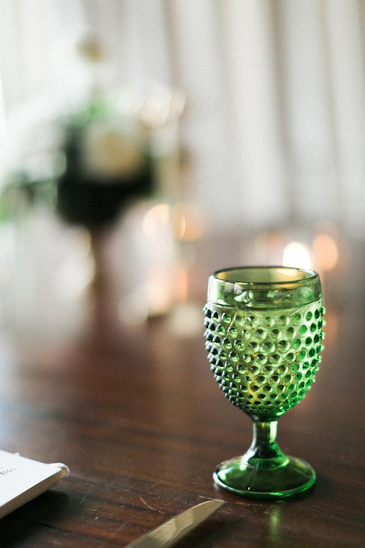 Southern Vintage Green Stemware