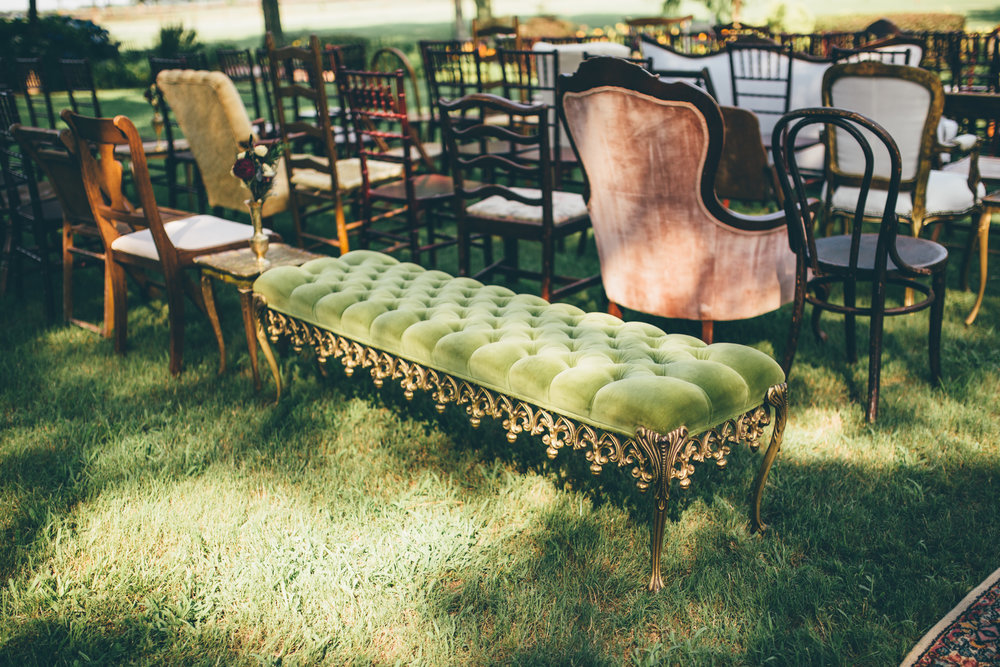 Southern Vintage Ceremony Seating