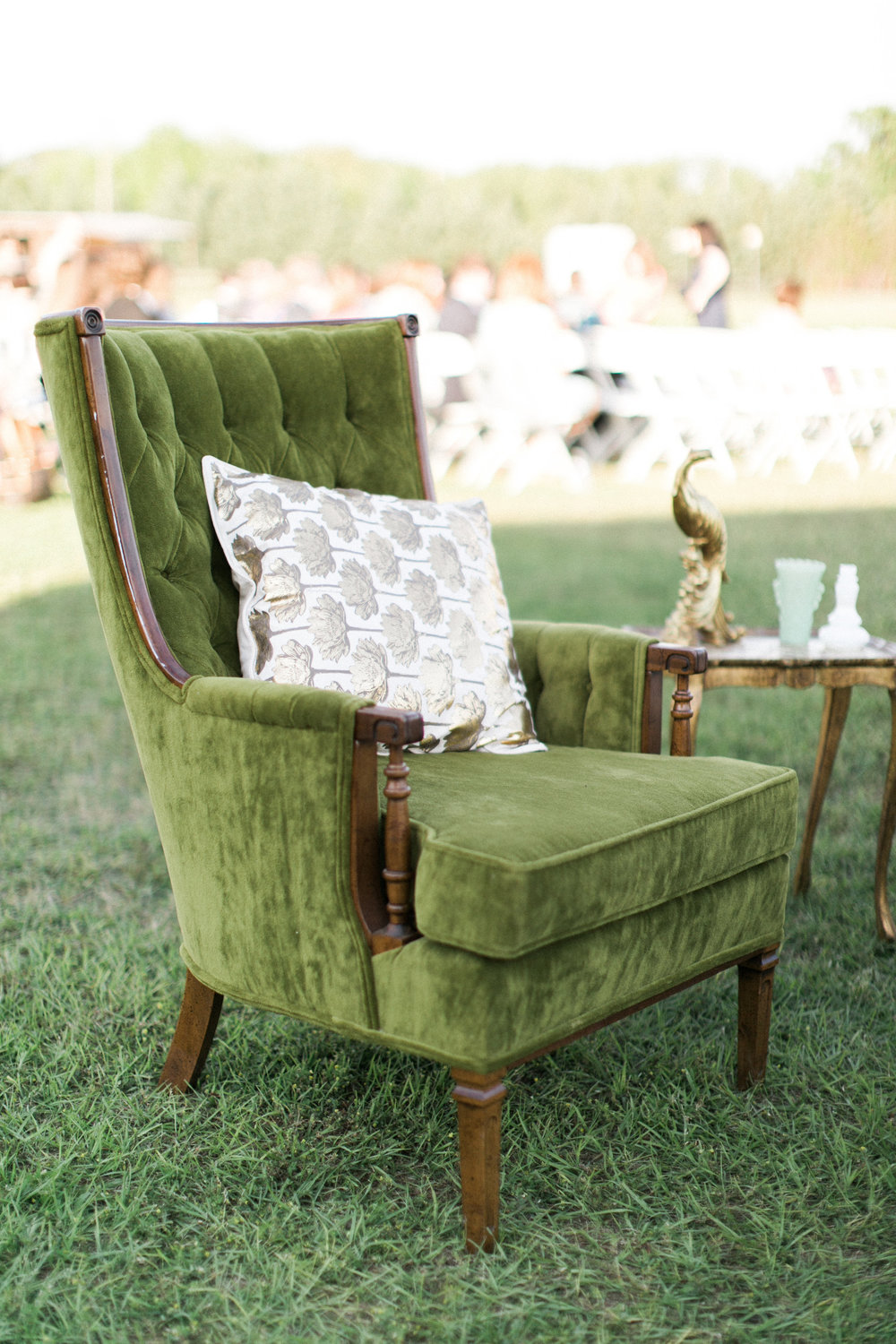 Southern Vintage Green Chair