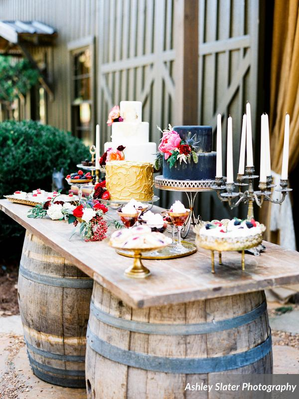 Southern Vintage Berry Colored Dessert Bar
