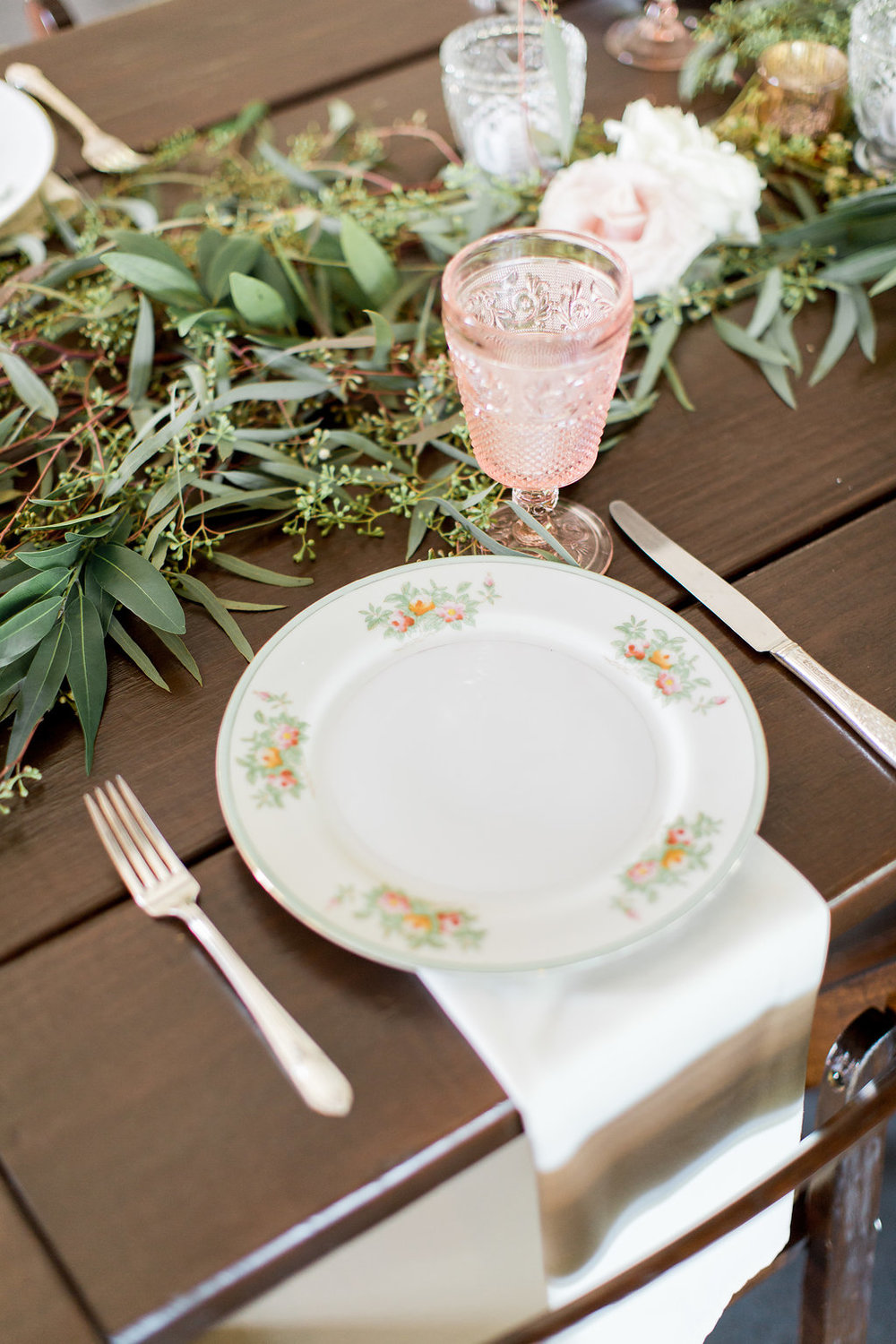 Pink & Green Place Settings - For a stunning tablescape.