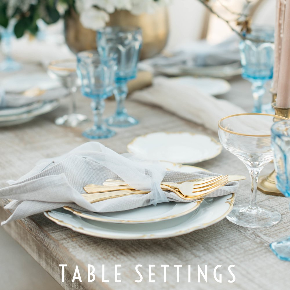 Ventanas Styled Shoot Vintage Table Setting