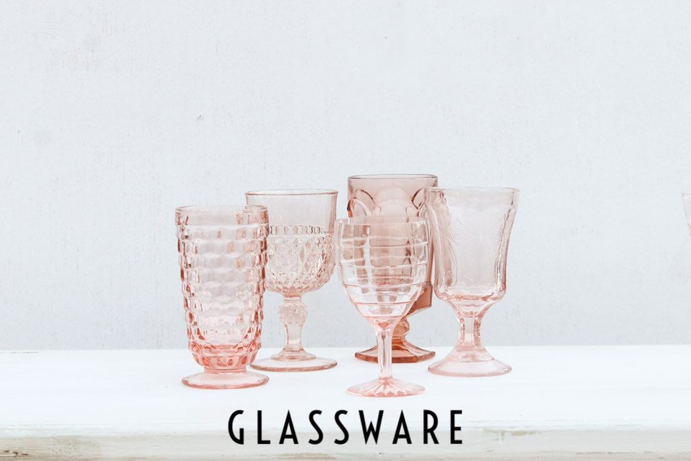 Southern Vintage Glasses - Pink Rental Glassware
