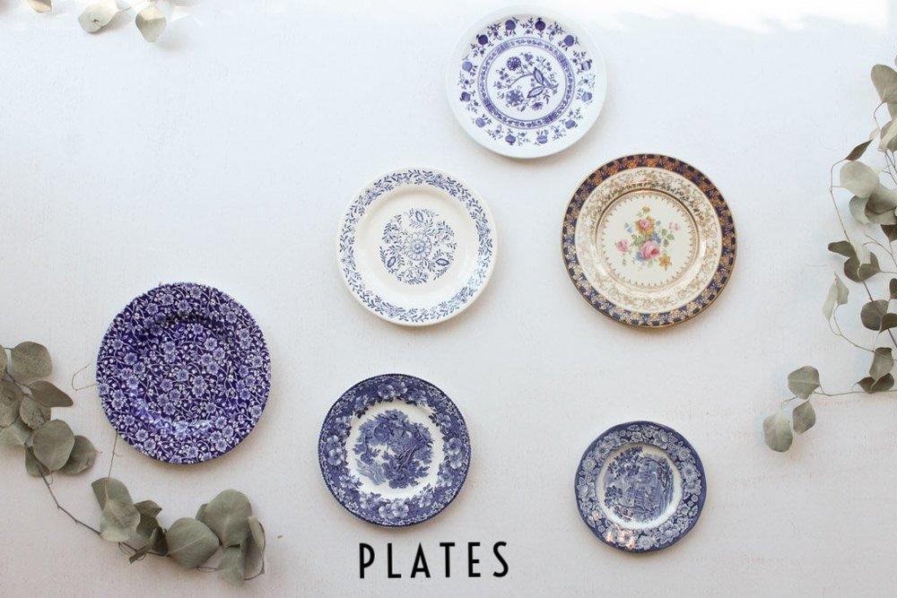 RENTAL CHINA DESSERT PLATES