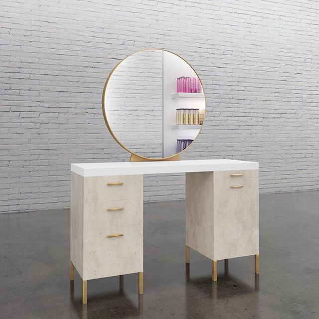 My favorite piece from the Millard Collection: The Crosby Vanity.... still trying to figure out how to fit this into my tiny NYC apartment :) ⠀ ⠀ ⠀  #millarddesign #americansalon #behindthechair_com #americansalon #modernsalon #beautylaunchpad #saloncentric #hair #salon #salondesign #salonstyle #stylist #hairstylist #interiordesign #hairsalondesign #hairsalon #furniture #fixtures #madeinusa #madeinamerica #millardcollection