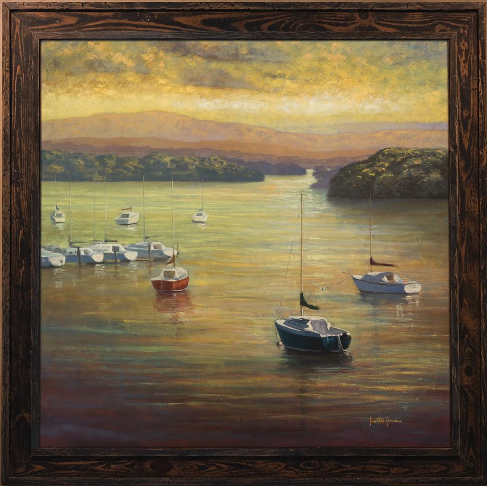 """Landing"" 42x42 in. Oil on Canvas"