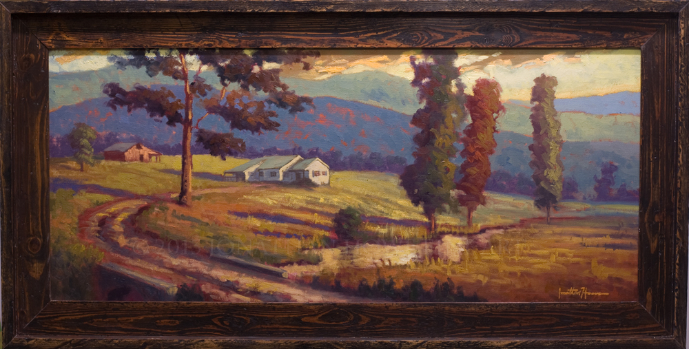 """Hartsoe Farm"" 16x36 in. Oil on Canvas"
