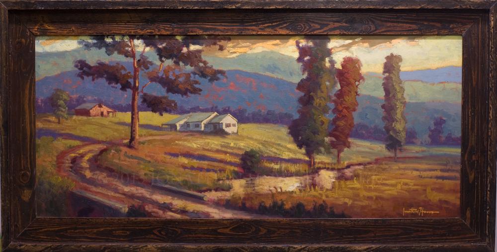 """Hartsoe Farm"" 16x36 in. Oil on Canvas"