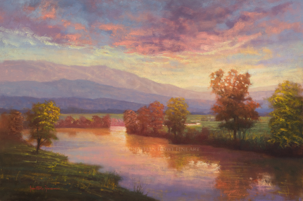 """Evening Awakes"" 24x36 in. Oil on Canvas"