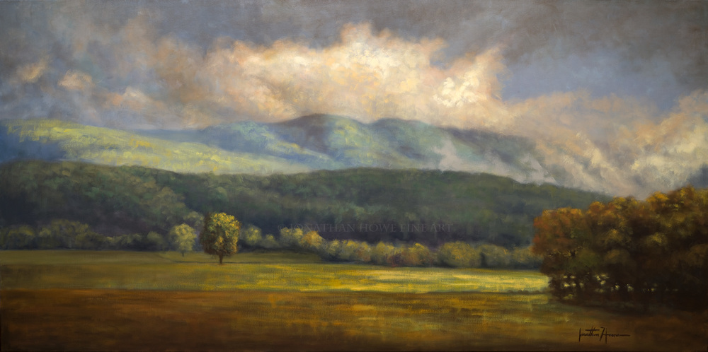 """""""Breaking Through"""" (Private Collection) 36x72"""
