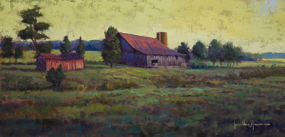 """Back Road""  12x24 Oil on Canvas - Just SOLD"
